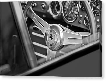 Ferrari Steering Wheel Canvas Print by Jill Reger