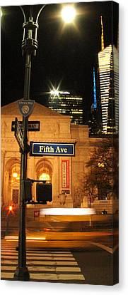 Crosswalk Canvas Print - Fifth Avenue by Dan Sproul