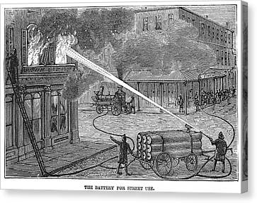 Firefighting, 1876 Canvas Print by Granger