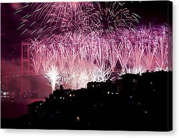 Fireworks Canvas Print by Ugur Ugurlu