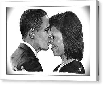 Michelle-obama Canvas Print - First Order Of Business by Brian Wylie