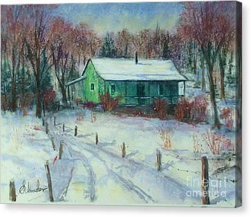 First Snow Canvas Print by Bruce Schrader