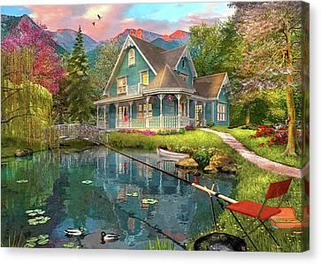 Fishing Retreat Canvas Print