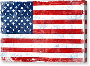 Flag Of Usa Canvas Print by Modern Art Prints