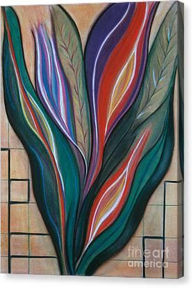 Flame Bouquet Canvas Print