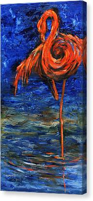 Canvas Print featuring the painting Flamingo by Xueling Zou
