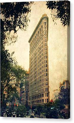 City Streets Canvas Print - Flatiron District by Jessica Jenney