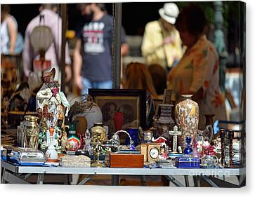 Flea Market In Athens Canvas Print by George Atsametakis
