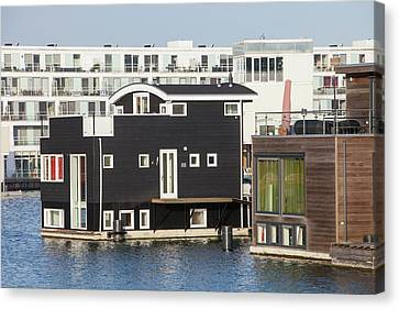 Floating House In Amsterdam Canvas Print