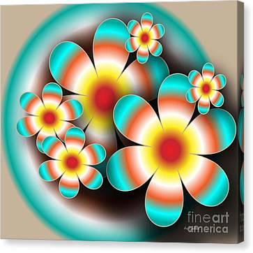 Floral Target Canvas Print by Iris Gelbart