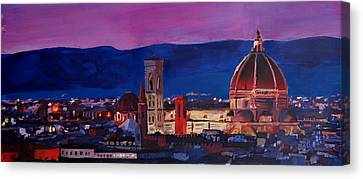 Florence Skyline Italy With Santa Maria Del Fiore Canvas Print by M Bleichner