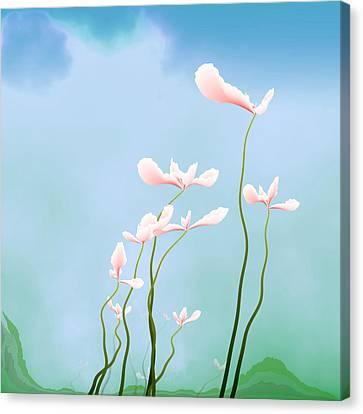 Flowers Of Peace Canvas Print by GuoJun Pan