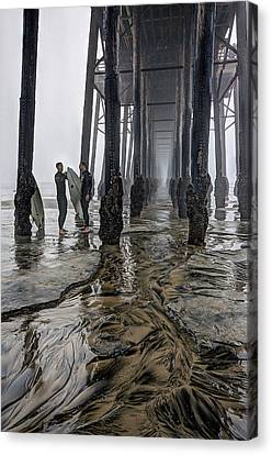 Fog At The Pier Canvas Print