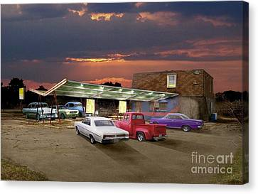 Food And Suds Canvas Print by Tom Straub
