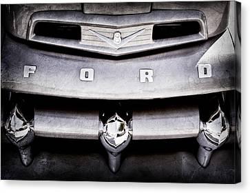 Ford F-1 Pickup Truck Grille Emblem Canvas Print by Jill Reger