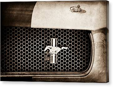 Ford Mustang Gt 350 Grille Emblem Canvas Print