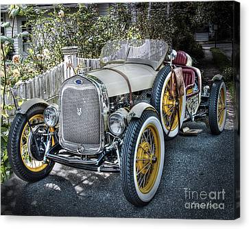 Ford Roadster Canvas Print by Louise Reeves