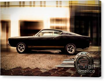Hannes Cmarits Canvas Print - Ford Torino G.t.390 by Hannes Cmarits