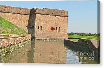 Fort Pulaski Moat System Canvas Print by D Wallace