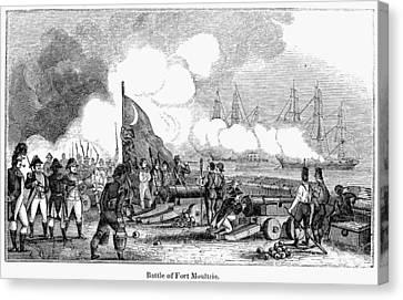 Fort Sullivan Battle, 1776 Canvas Print by Granger