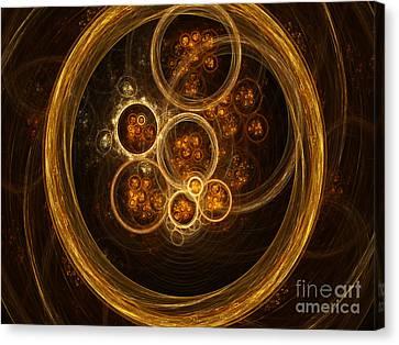 Fractal Flames Canvas Print by Scott Camazine