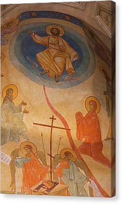 Greek Icon Canvas Print - France, Corsica, Cargese, Eglise by Walter Bibikow