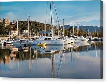 France, Corsica, Porto Vecchio, Marina Canvas Print
