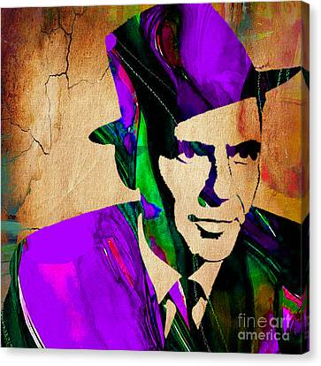 Frank Sinatra Painting Canvas Print by Marvin Blaine
