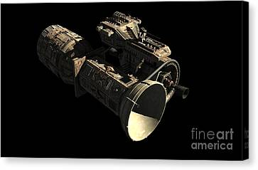 Frenchbulgarian Orbital Weapons Canvas Print by Rhys Taylor