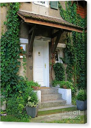 Canvas Print featuring the photograph Front Door by Arlene Carmel