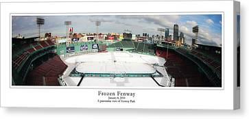 Frozen Fenway Canvas Print by Kristopher Ventresco
