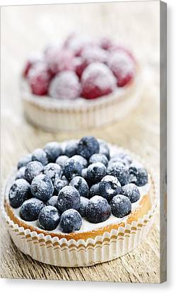 Fruit Tarts Canvas Print by Elena Elisseeva