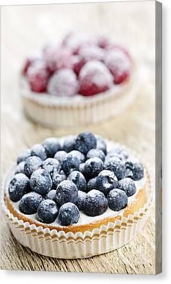 Fruit Tarts Canvas Print by Elena Elisseeva