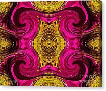 Fuchsia Sensation Abstract Canvas Print by J McCombie