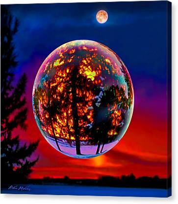 Full Moon Over New Richmond Sunset Canvas Print
