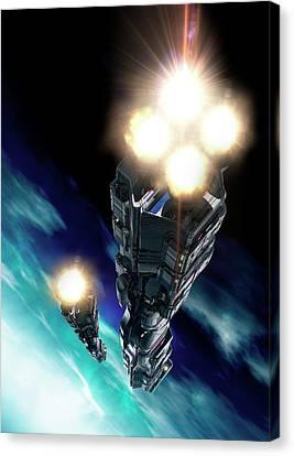 Futuristic Space Craft Canvas Print