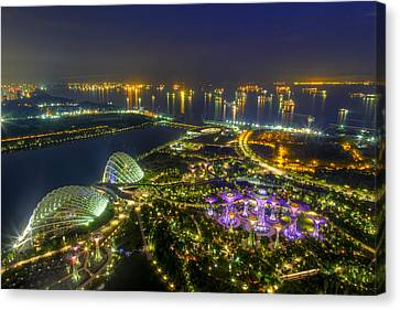Gardens By The Bay Canvas Print by Mario Legaspi