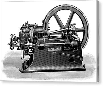 Gardner Gas Engine Canvas Print by Science Photo Library