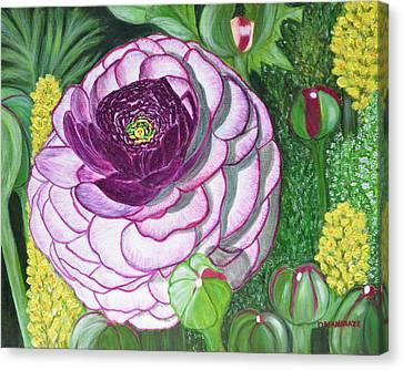 Garnet Punch Canvas Print by Donna  Manaraze