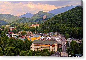 Gatlinburg Tennessee Canvas Print by Frozen in Time Fine Art Photography