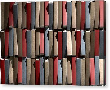 Generic Unbranded Leather Book Texture Canvas Print by Allan Swart