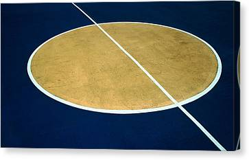 Geometry On The Basketball Court Canvas Print