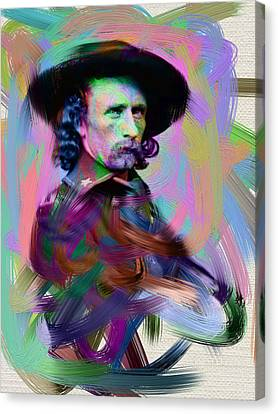 George Armstrong Custer Canvas Print by Unknown