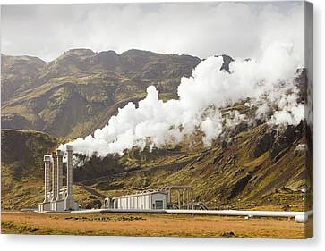 Geothermal Power Station Canvas Print