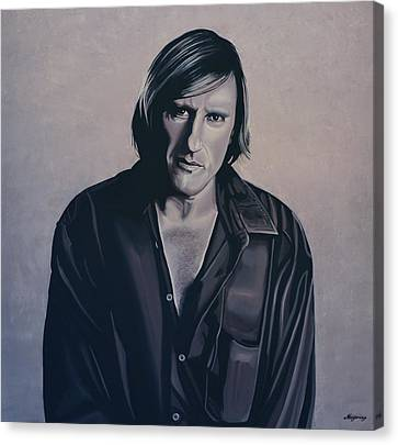 Gerard Depardieu Painting Canvas Print by Paul Meijering