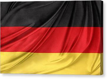 German Flag Canvas Print by Les Cunliffe