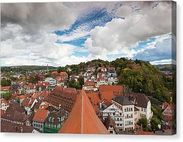 Germany, Baden-wurttemburg, Tubingen Canvas Print by Walter Bibikow
