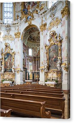 Germany, Bavaria, Ettal, Kloster Ettal Canvas Print by Walter Bibikow