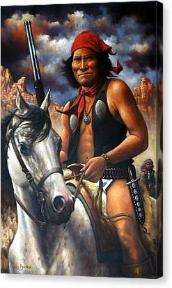 Canvas Print featuring the painting Geronimo by Harvie Brown