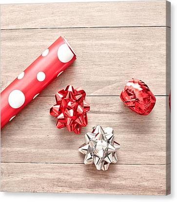 Gift Wrapping Canvas Print by Tom Gowanlock
